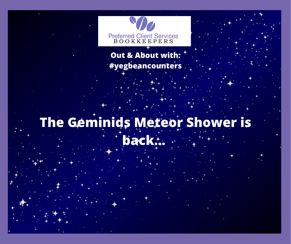 Out & About Geminids Meteor Shower